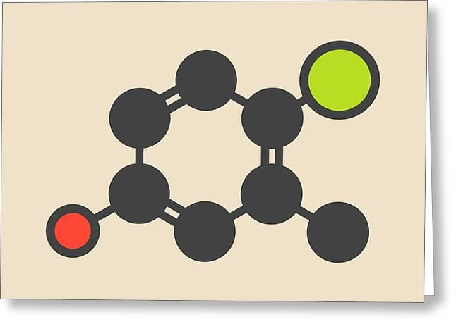 Chlorocresol Antiseptic Molecule Greeting Card by Molekuul