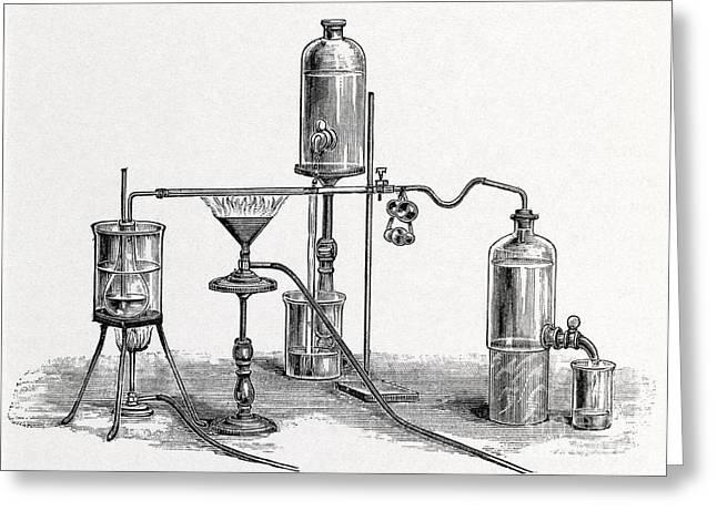 Chloroform Analysis, 19th Century Greeting Card