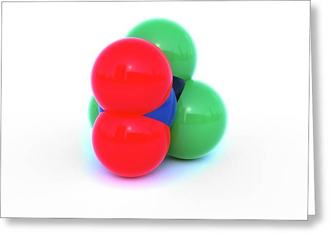 Chloropicrin Molecule Greeting Card by Indigo Molecular Images