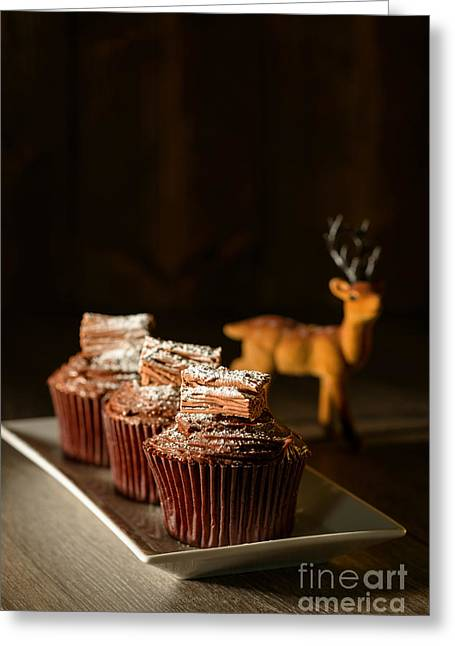 Chocolate Cakes For Christmas Greeting Card by Amanda Elwell