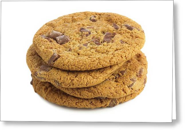 Chocolate Chip Cookies Greeting Card by Science Photo Library