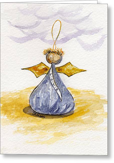 Chocolate Kissing Angel Greeting Card