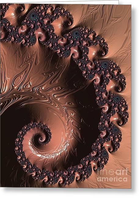 Chocolate Lava Greeting Card by Charles Dobbs