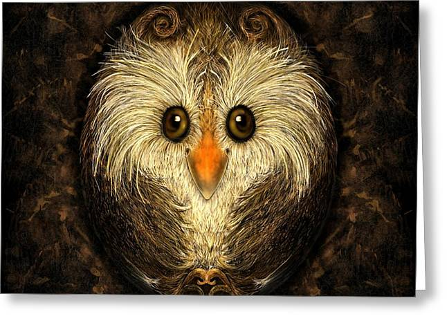 Chocolate Nested Easter Owl Greeting Card