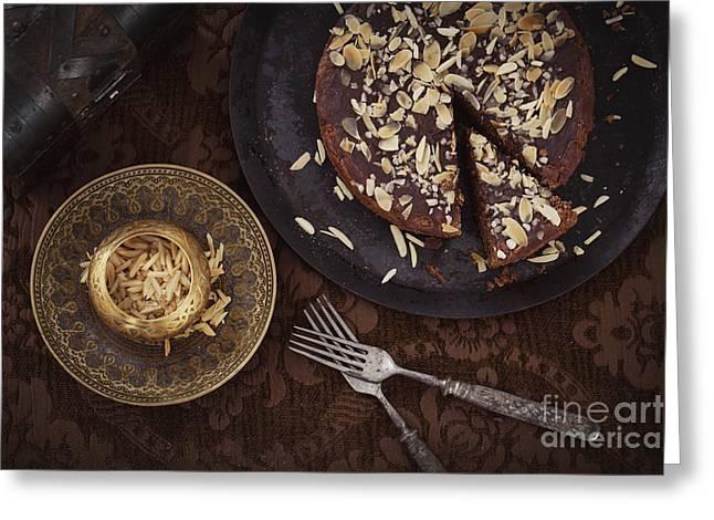 Chocolate Pie Greeting Card by Mythja  Photography