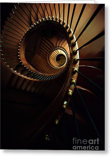 Chocolate Spirals Greeting Card by Jaroslaw Blaminsky