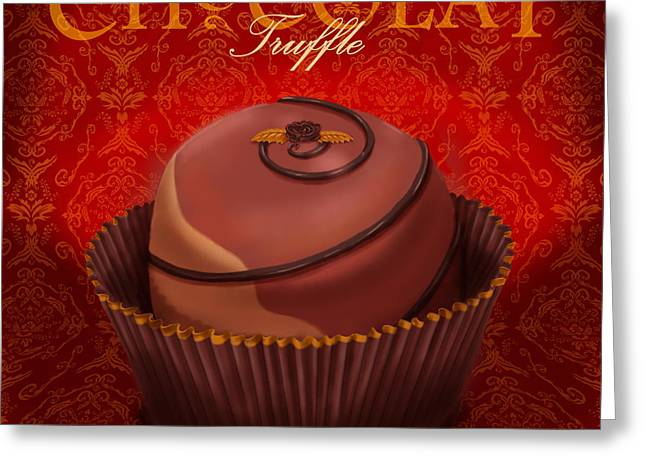 Chocolate Truffle Greeting Card