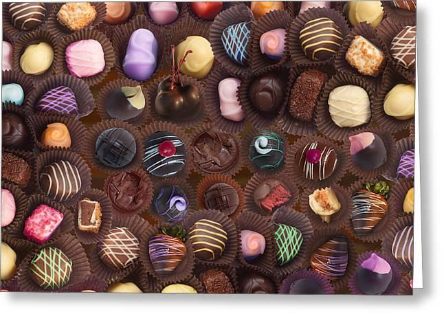 Chocolate Yummy Greeting Card by Alixandra Mullins