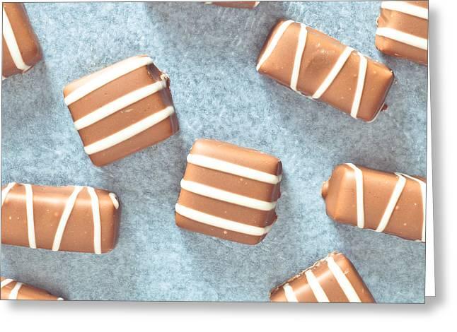 Chocolates Greeting Card by Tom Gowanlock