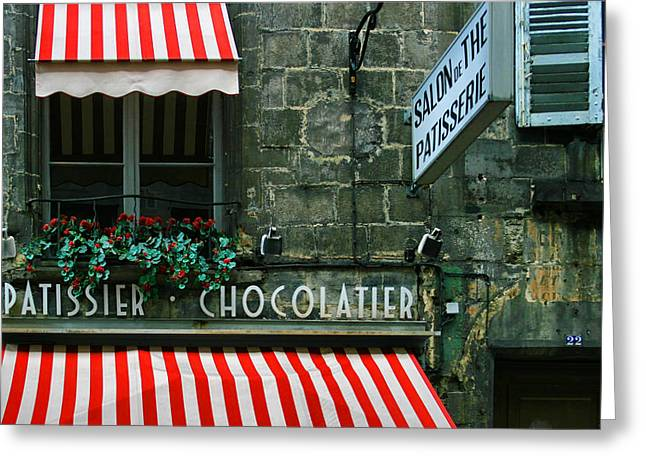 Chocolatier In Clermont Ferrand France  Greeting Card by Georgia Fowler