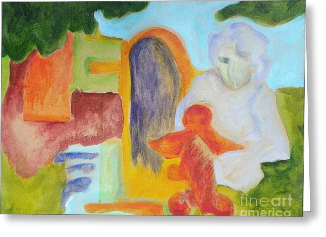Greeting Card featuring the painting Choices- Caprian Beauty Series 1 by Elizabeth Fontaine-Barr