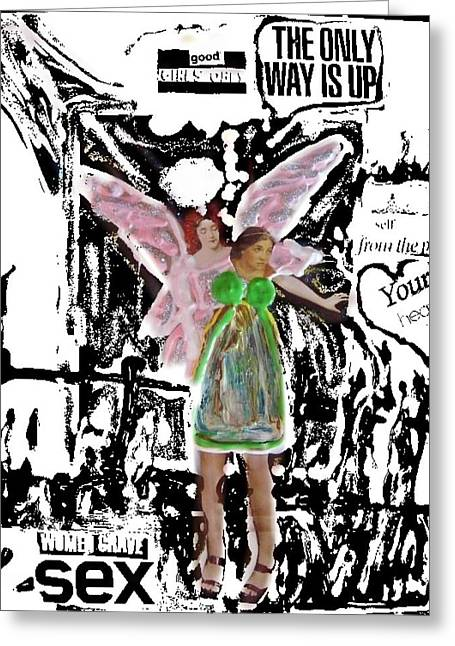 Greeting Card featuring the mixed media Choices by Lisa Piper