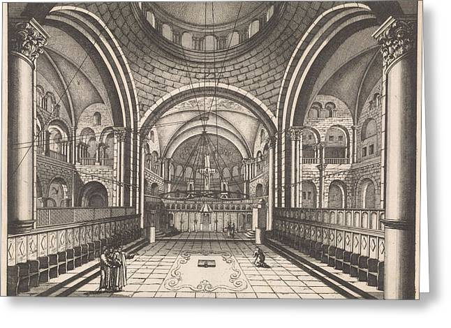 Choir Of The Holy Sepulchre In Jerusalem Greeting Card