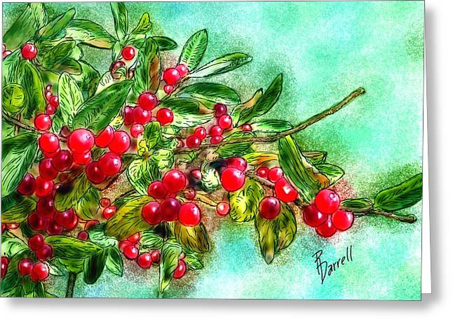 Chokecherry Branch Greeting Card
