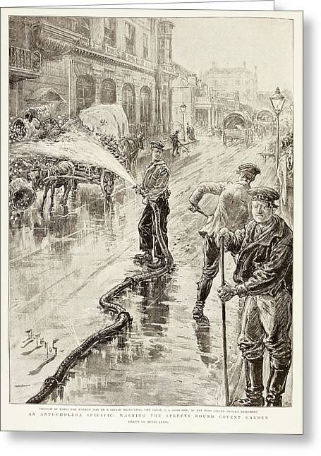 Cholera Control Greeting Card