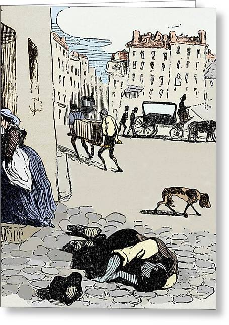 Cholera In Paris Greeting Card