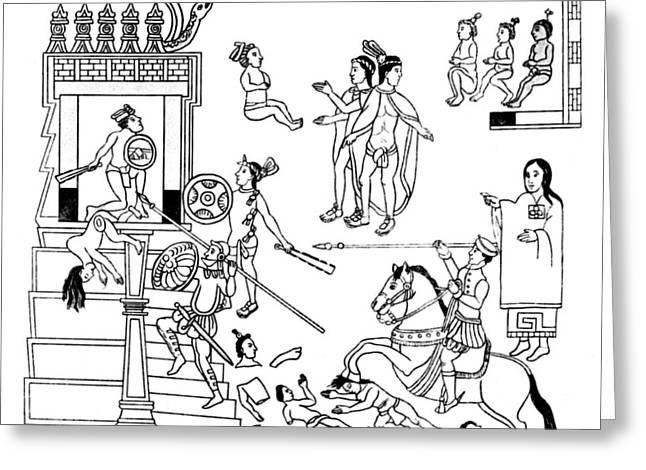Cholula Massacre, 1519 Greeting Card