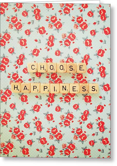 Choose Happiness Greeting Card by Mable Tan