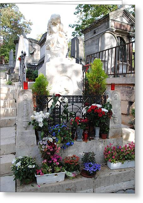 Chopin's Gravesite At Pere Lachaise Cemetery Greeting Card by Jacqueline M Lewis