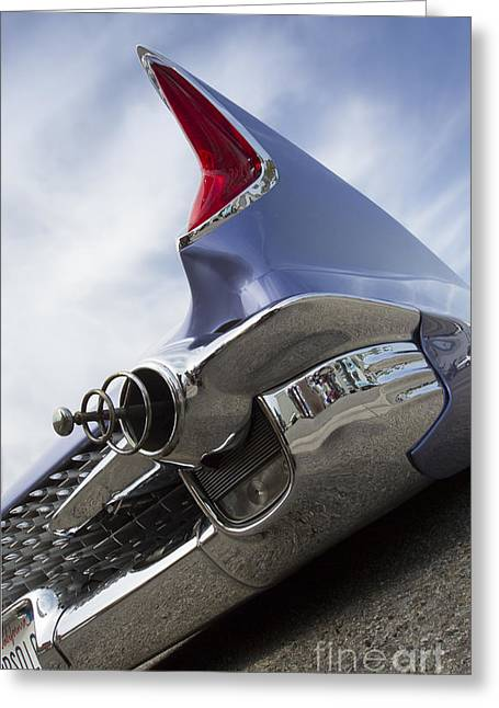 Chopit Kustoms - Bubble Car Greeting Card by Holly Martin