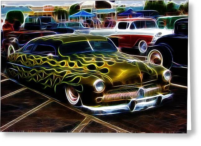 Chopped And Flamed Greeting Card by Steve McKinzie