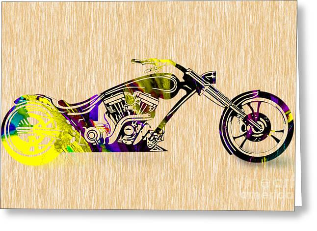 Chopper Greeting Card by Marvin Blaine