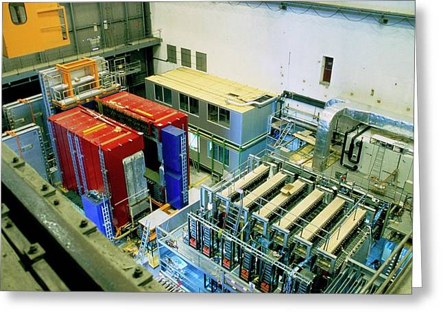 Chorus And Nomad Neutrino Detectors Greeting Card by Cern/science Photo Library
