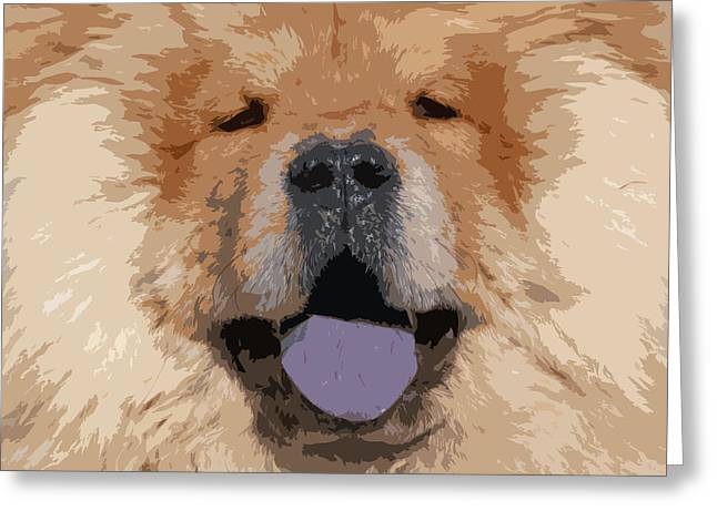 Chow Chow Greeting Card by Nancy Merkle