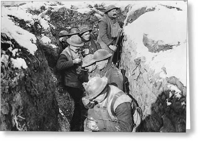 Chow Time In The Trenches Greeting Card