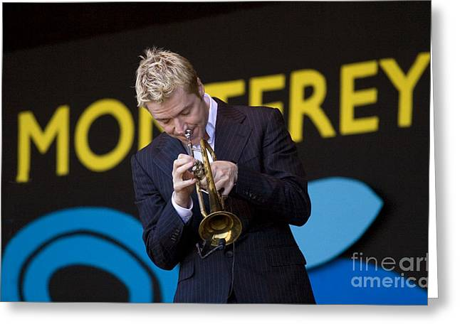 Chris Botti Plays Trumpet Greeting Card by Craig Lovell