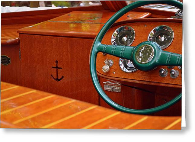 Chris Craft Cockpit Greeting Card by Michelle Calkins