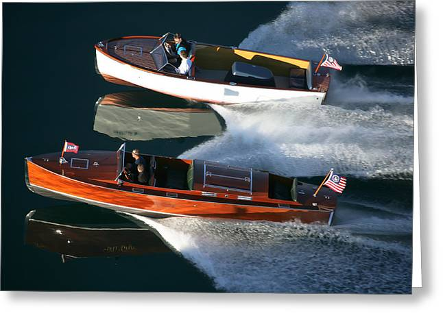 Chris-craft Cousins Greeting Card by Steven Lapkin
