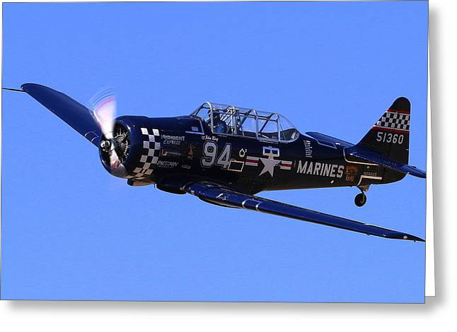 Chris Lefave In His North American Snj-4 Midnight Express At Reno Air Races  Greeting Card
