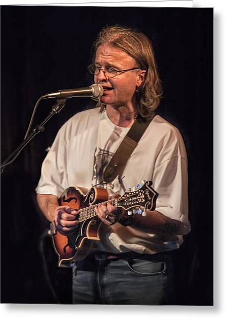 Chris Leslie Of The British Folk Rock Group Fairport Convention Greeting Card