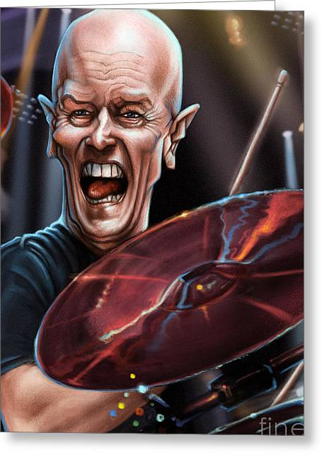 Chris Slade Greeting Card by Andre Koekemoer