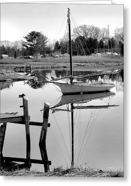 Chrissy In Black And White Greeting Card