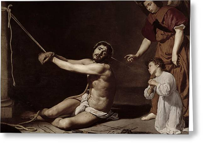 Christ After The Flagellation Contemplated By The Christian Soul Greeting Card