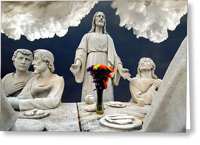 Christ And The Last Supper Northern Virginia 2006 Greeting Card by John Hanou