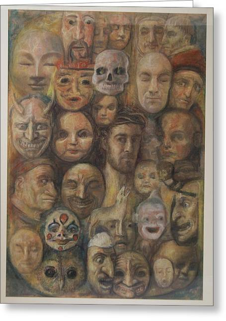 Christ And The Masks Greeting Card
