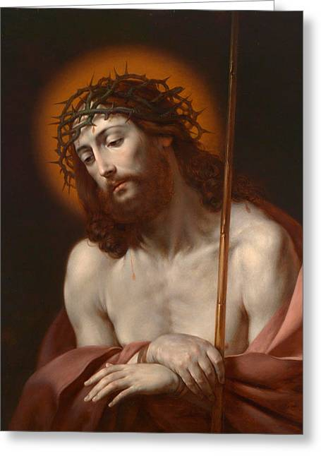 Christ As Man Of Sorrows Greeting Card by Anonymous