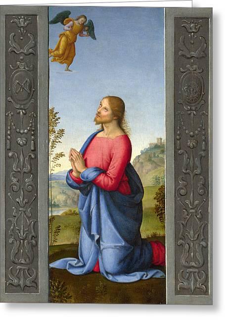 Christ At Gethsemane Greeting Card by Lo Spagna