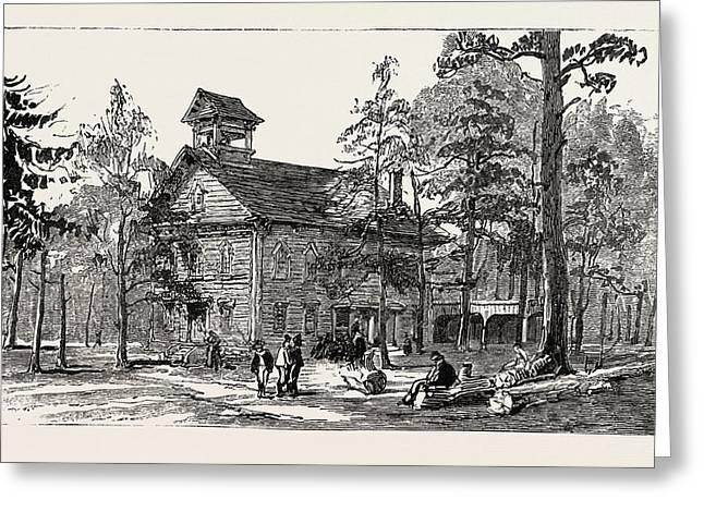 Christ Church And Public School, Thomas Hughes Settlement Greeting Card by American School
