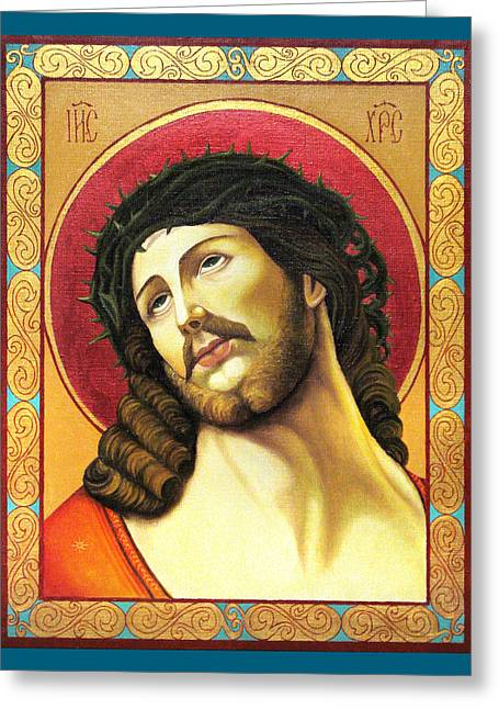 Christ Crowned With Thorns Greeting Card by Oksana Nabok