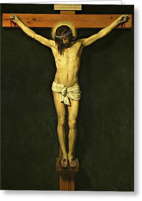 Christ Crucified 1632 By Diego Velazquez Greeting Card by Movie Poster Prints