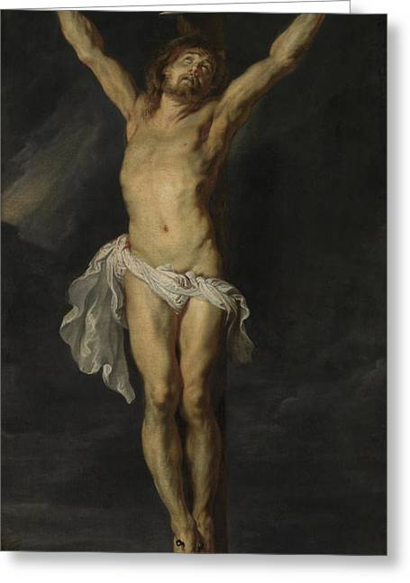 Christ Crucified Greeting Card by Peter Paul Rubens