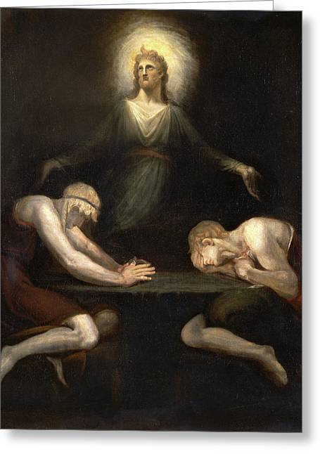 Christ Disappearing At Emmaus, Henry Fuseli Greeting Card