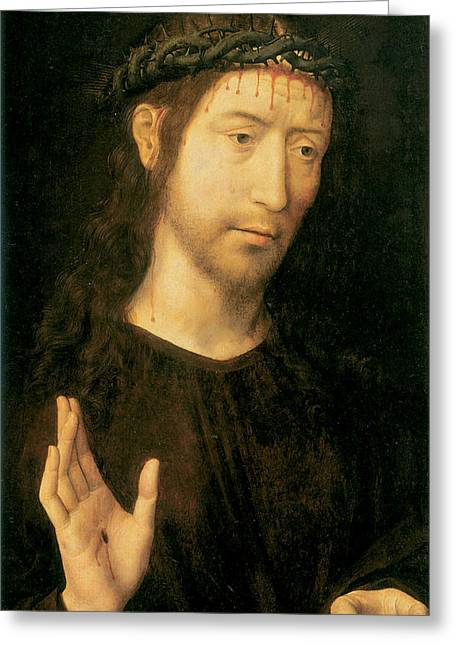 Christ In Blessing Greeting Card