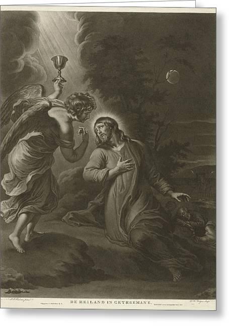 Christ In Garden Of Gethsemane Greeting Card by Evert Maaskamp