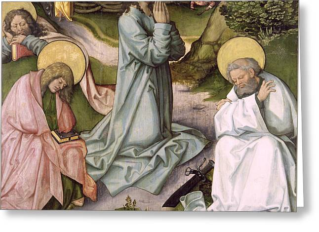 Christ In Gethsemane  Greeting Card by Hans Leonard Schaufelein