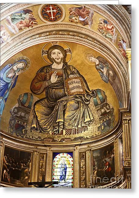 Christ In Majesty  Pisa Duomo Greeting Card by Liz Leyden